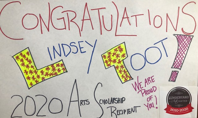 2020 Youth Scholarship Arts Recipient: Lindsey Toot